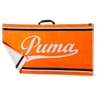 Puma Golf Towel Tour Jacquard Vibrant Orange SS16