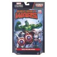 Image of Marvel Legends Series Comic 2-Pack Shield-Wielding Heroes