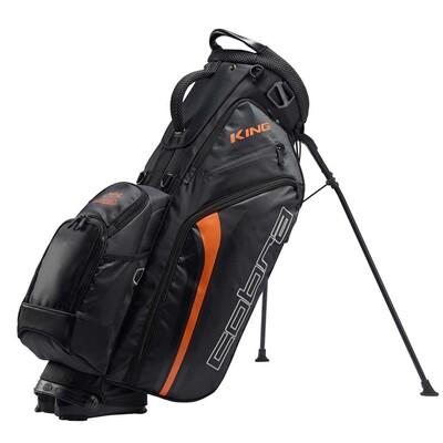 Puma Golf Bag Cobra KING Stand Black Vibrant Orange
