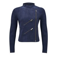 Paris Suede Jacket - Navy