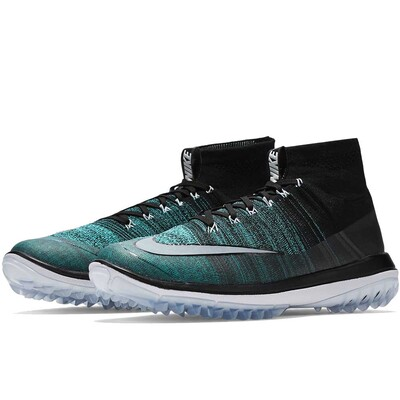 Nike Golf Shoes Flyknit Elite Black Clear Jade AW16
