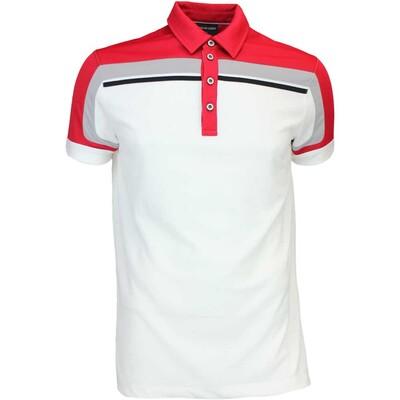 Galvin Green Golf Shirt MACOY Ventil8 White Red AW16