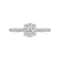 Vintage Shoulder Diamond Ring 0.36cts