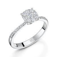 Vintage Shoulder Diamond Ring 0.44cts