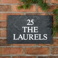 Slate House Sign 3 line 40.5 x 25.5cm - smooth slate