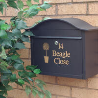 Dublin Black Letterbox Personalised With Your Address
