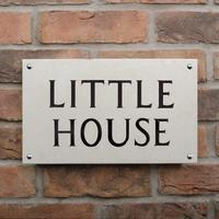 Portland Stone House Sign 2 line 35.5 x 20cm