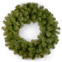 """North Valley Spruce PVC Artificial Christmas Wreath 24"""" by National Trees"""