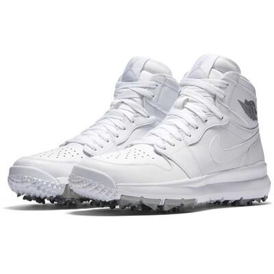 Nike Golf Shoes Air Jordan 1 White Silver 2017