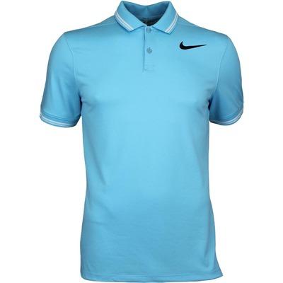 Nike Golf Shirt NK Dry Tipped Vivid Sky SS17