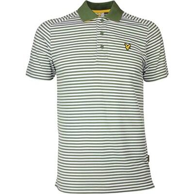 Lyle Scott Golf Shirt Craigielaw Tech Tour Cedar Green SS17