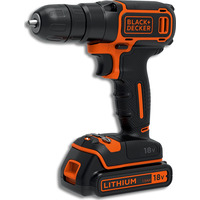 Image of Black & Decker 18V Drill Driver with 200mA Charger & Battery