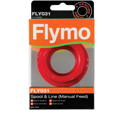 Flymo Flymo Manual Feed Spool and Line fits Minitrim ET21 p/n 5131060-90/6