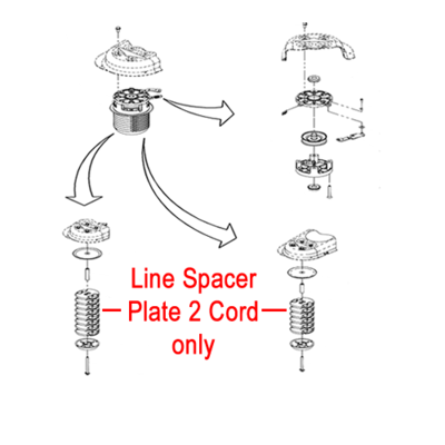 DR DR Replacement Line Spacer Plate 2 Cord (DR235151)