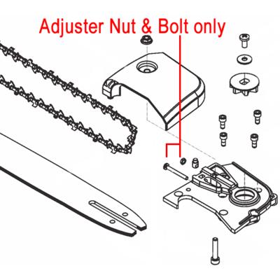 Mitox Mitox Pole Pruner Adjuster Nut & Bolt MIGB/T889.1 M4 MIGB/T818.1 M4x35