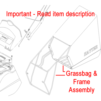 Hayter Hayter Harrier Grassbag & Frame Assembly 111-1551
