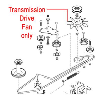 John Deere John Deere Transmission Drive Fan M809036