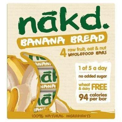 Nakd Nibble Banana Bread Bar 30g Pack of 4