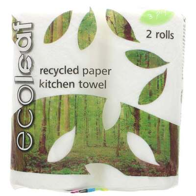 Ecoleaf Recycled Kitchen Roll - Pack of 2