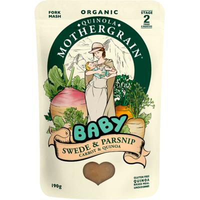 Quinola Mothergrain Organic Swede & Parsnip Baby Food 190g