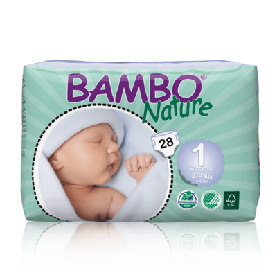 Bambo Nature Newborn Nappies - Size 1