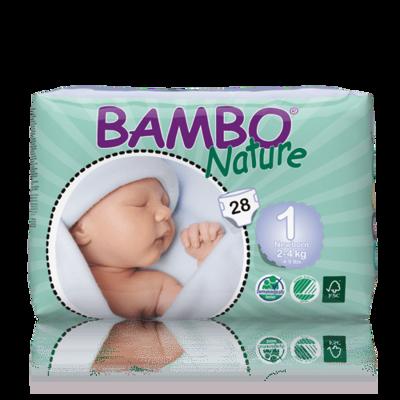 Bambo Nature Newborn Nappies - Size 1