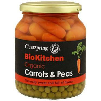Clearspring Bio Kitchen Organic Carrots & Peas 350g