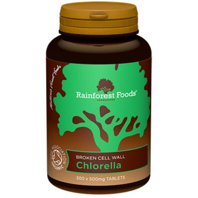 Rainforest Foods Organic Chlorella 300 Capsules