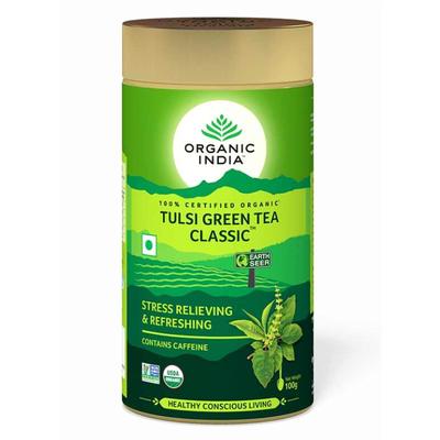 Organic India Tulsi Green Tea 100g