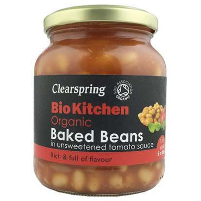 Clearspring Bio Kitchen Organic Unsweetened Baked Beans 350g