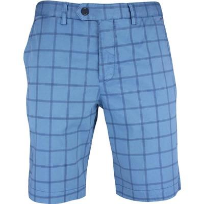 Ted Baker Golf Shorts Printed Chino Blue SS17