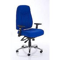 Image of Barcelona Plus Task Operator Chair Blue Fabric