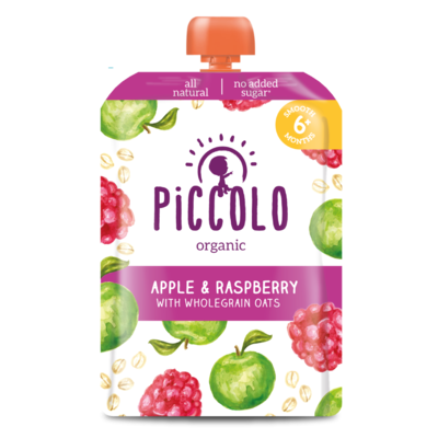 Piccolo Raspberry & Apple with Soaked Oats 100g