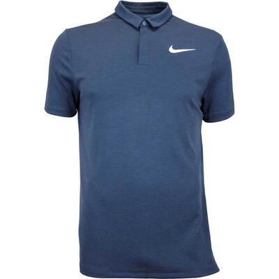 Nike Golf Shirt Aeroreact Stripe Armory Navy AW17