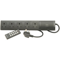 5 Way Extension Lead With Remote Control