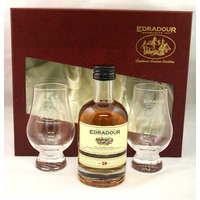 Edradour 10 Year Old - 20cl and 2 Nosing Glasses Gift Pack