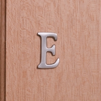 Self Adhesive 40mm Aluminium Letter E