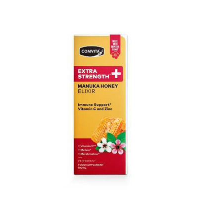 Comvita Extra Strength Manuka Honey Elixir Vitamins & Herbs 100ml