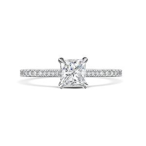 Love Princess Cut Diamond Ring