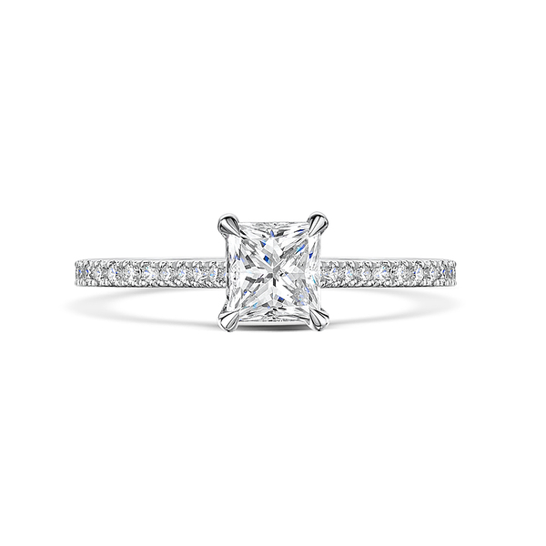 Love Princess Cut Diamond Ring