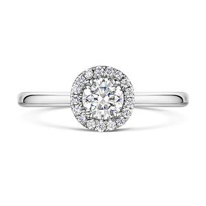 Brilliant Cut Diamond Halo Ring 0.70cts