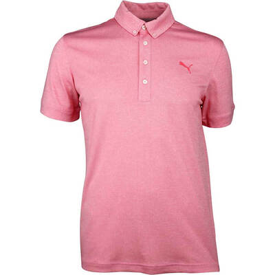 Puma Golf Shirt Oxford Heather Paradise Pink SS18