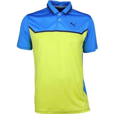 Puma Golf Shirt Bonded Tech Electric Blue Lemonade LE SS18