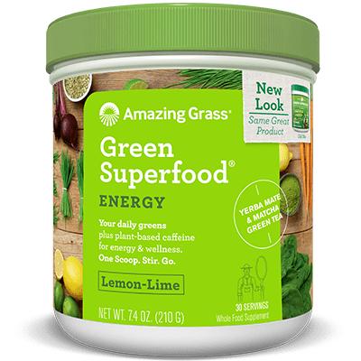 Amazing Grass Green Superfood Energy Lemon Lime 210g