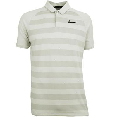 Nike Golf Shirt Zonal Cooling Stripe Light Bone SS18
