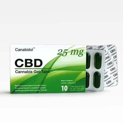 Canabidol CBD Gel-Tabs 250mg - 10 Gel Tabs