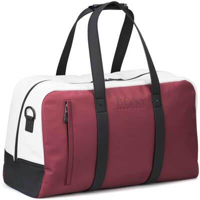 Hugo Boss Travel Bag Hyper Holdall White Rhubarb FA18