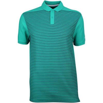 Nike Golf Shirt NK Dry Stripe Pique Neptune Green AW18