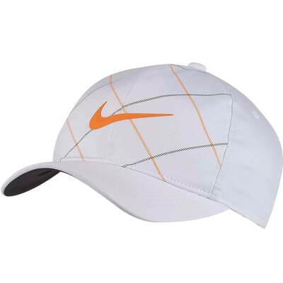 Nike Golf Cap Classic 99 Snapback Open Tartan White 2018