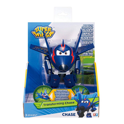 Super Wings - Transforming Vehicle,  S2, Agent Chase, Plane, Bot, 5 Figure